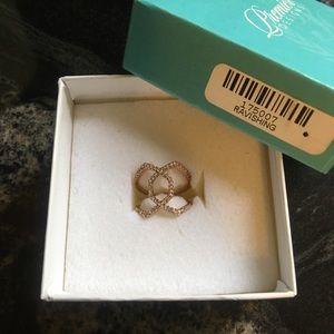 Premier Designs Ravishing Pave Rose Gold Ring